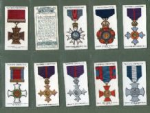 Tobacco cigarette cards War Decorations & Medals 1927